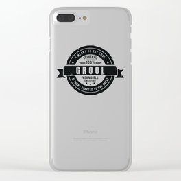 GROOL badge design based on Mean Girls Clear iPhone Case