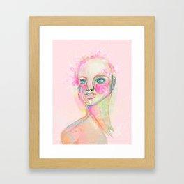 Libertad y flores Framed Art Print