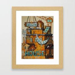 Oregon Public House Poster - 11 Framed Art Print