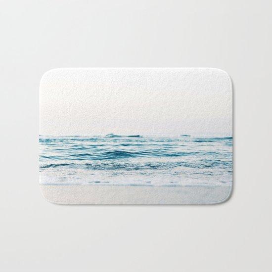 Sea water blue 8 Bath Mat