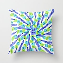 Swirling Leaves Throw Pillow
