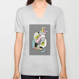 Abstract Painting of a Dog (1) - Modern Artwork Unisex V-Neck