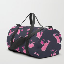 Pink elephant Duffle Bag