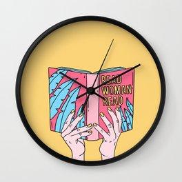 Read woman read Wall Clock