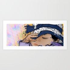 Baby Girl Sleeping Art Print