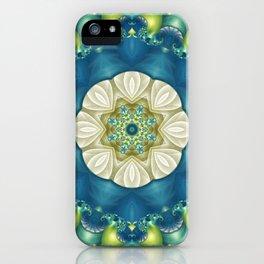 Blue Green Kaleidoscope iPhone Case