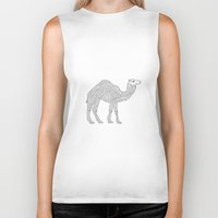 camel Biker Tanks featuring Camel by Emmy