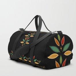 """Tree of Polka Dots Leaves (Black)"" Duffle Bag"