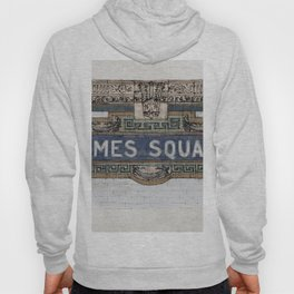 Times Square Subway New York, Tile Mosaic Sign Hoody