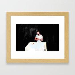 the orange peeler Framed Art Print