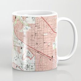 Fort Worth Texas Map (1995) Coffee Mug