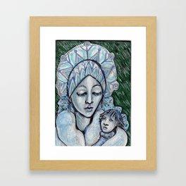 Winter Madonna  Framed Art Print