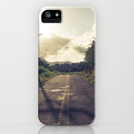 The dusty road iPhone Case