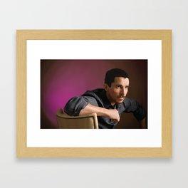 Christian Bale Framed Art Print