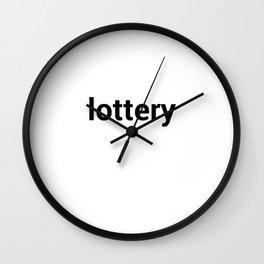 lottery Wall Clock