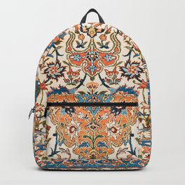 Isfahan Antique Central Persian Carpet Print Backpack