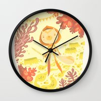 skyrim Wall Clocks featuring skyrim by yohan sacre