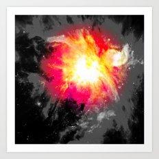 Abstract Nebula Art Print