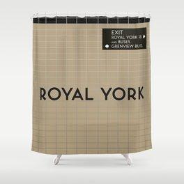 ROYAL YORK | Subway Station Shower Curtain