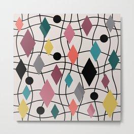 Colorful Mid Century Modern Geometric Abstract 122 Metal Print