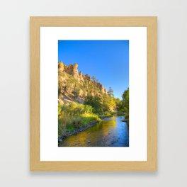 River and Cliffs Framed Art Print