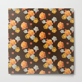 falling flowers in chocolate Metal Print