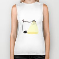 cartoon Biker Tanks featuring CARTOON LAMP by d.ts