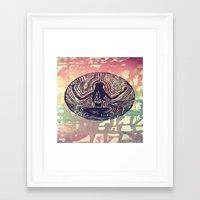 psych Framed Art Prints featuring Psych Trap by ArtAngel