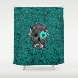 Insect Skull Shower Curtain