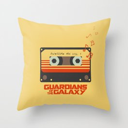 Awesome mix vol.1 Throw Pillow