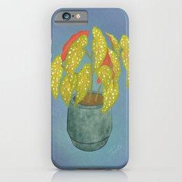 Polka Dot Begonia  iPhone Case