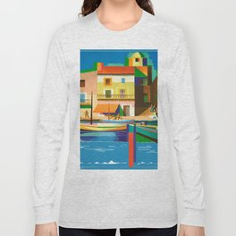 Vintage Travel Poster Long Sleeve T-shirt