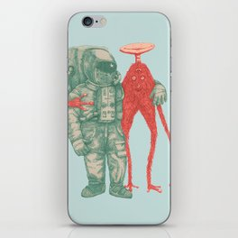 Alien & Astronaut iPhone Skin
