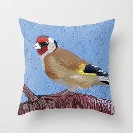 European Goldfinch Throw Pillow
