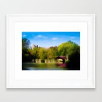 central park Framed Art Prints featuring Central Park by Tres Cameo Art & Photography