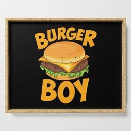 Burger Boy Loves Hamburger Serving Tray