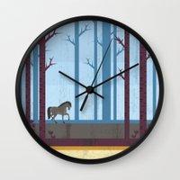 woods Wall Clocks featuring Woods by Kakel