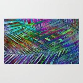 Multicolor Palm Leaves 2 Rug