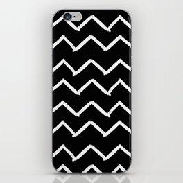Black and White Zick Zack Brush iPhone Skin