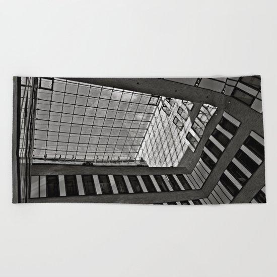 Modern Hamburg office building Beach Towel