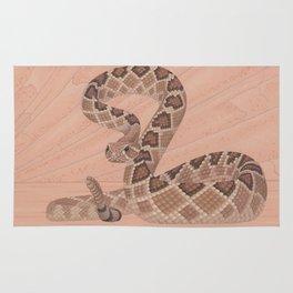 Western Diamondback Rattlesnake Rug
