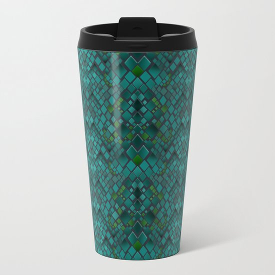 Digital graphics snake skin. Metal Travel Mug