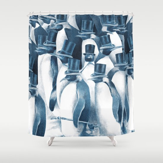 A Gathering of Gentlemen (square format) Shower Curtain
