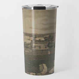 Vintage Cleveland Ohio Illustration (1833) Travel Mug