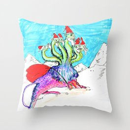 CHRISTMAS MONSTER Throw Pillow