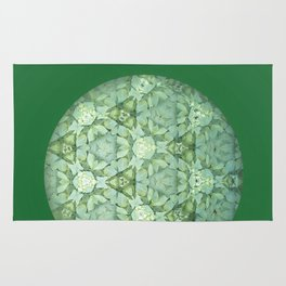 Kaleidoscopic Green Again Rug