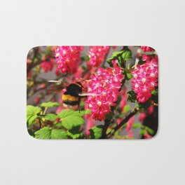 Bumble Bee and Blood Currant Ribes Sanguineum std Bath Mat