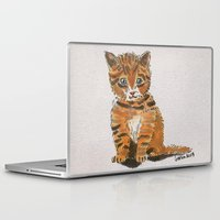 whisky Laptop & iPad Skins featuring Whisky, the Kitty by Gersin@Albatrostudio