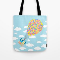 Up! On Clouds Tote Bag