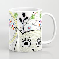 yoshi Mugs featuring Yoshi Nightsky by Jacinta Sue